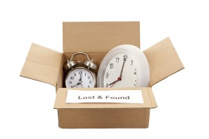 Clocks in a Lost and Found Box